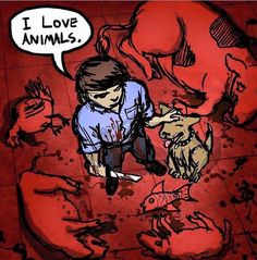 Vegetariano por dizer não à indústria da crueldade, pavor e dor