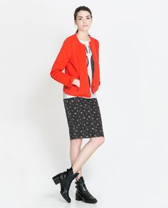 Image 1 of LIGHT QUILTED JACKET from Zara