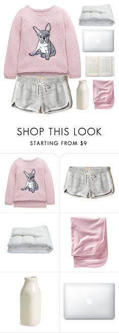 """Lets study : freeport case 📚👀☕"" by novalikarida ❤ liked on Polyvore featuring Hollister Co., Frette, Gap and Fishs Eddy"