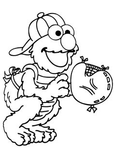 Print Coloring Image Elmo PagesColoring For