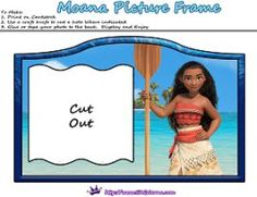 Moana Printable Photo Frame by SKGaleana | Free Moana Printable Crafts, Activities and Party Supplies