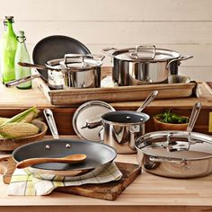 All-Clad d5 Stainless-Steel Nonstick 10-Piece Cookware.   Set #williamssonoma/.  I'm pretty sure I NEED this cookware set.