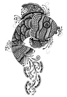 Henna fish design. Ideal for a tattoo