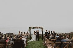 Sea Ranch ceremony! Photo: @brandon.wehman of Wanderlust Photo | Venue: Sea Ranch Lodge | Planning: So Eventful | Officiant: Rev. José Flores of Tan Weddings & Events | HMUA: Krista Schafer | Florals: Flowers by Rebekah | DJ: DJ Cams | Cake: Moustache Baked Goods #justmarried #bride #bridalbouquet #beachwedding #searanchwedding #magicalwedding #ido #californiawedding #tanweddingsandevents