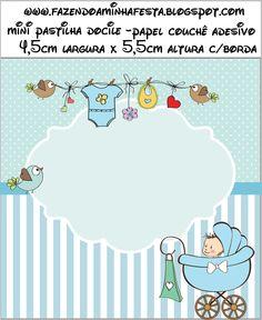 Mini Pastilha Docile Chá de Bebê ou Chá de Fraldas:
