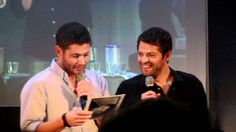 JIB 3: Jensen & Misha Panel: Misha's old resume - Jensen laughing hyster...