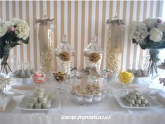 Wedding dessert table. Wedding candy bar. Mesa dulce boda. www.mommas.es