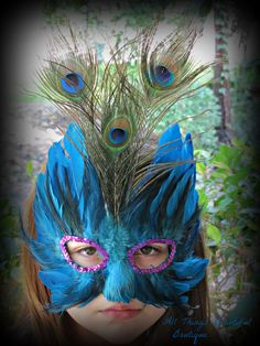 Teal Peacock Mask Perfect for Photography Prop by AllThingsGrand, $19.99
