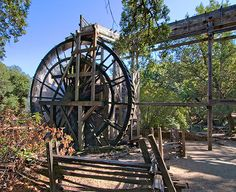 The water wheel at the historic Bale Grist Mill near St. Helena in California's Napa Valley Wine Country.