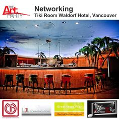 The Art Party hosts first networking event at the Tiki Room, Waldorf Hotel, Vancouver