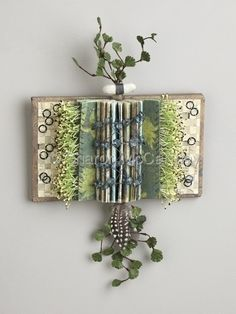 Shield Book: Once Upon a Time, mixed media folded altered book by Sharon McCartney Folded Book Art, Paper Book, Book Folding, Paper Art, Cut Paper, Altered Book Art, Book Projects, Clay Projects, Arte Floral