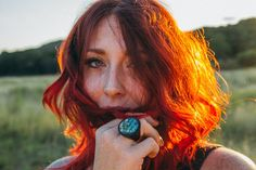 Sun drenched summer shoot. Boho Vibe. Natural Light photography. Red hair. Freckles.