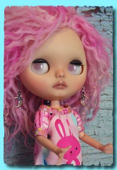 Crescent Moon Earrings with Crystals for #Blythe #Dolls by Mimi and Boots #Etsy