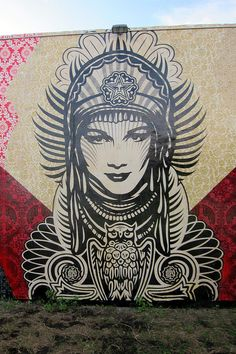 Miami - Wynwood: Wynwood Walls - Wynwood Walls - Shepard Fairey's Street Goddess by wallyg, via Flickr