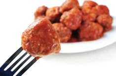 Slow Cooker Spanish Meatballs - as an appetizer or a meal.  So GOOD!  www.GetCrocked.com