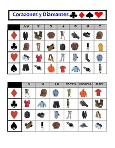 Spanish Card Game to Practice and Review Clothing Vocabulary (Easy Prep)