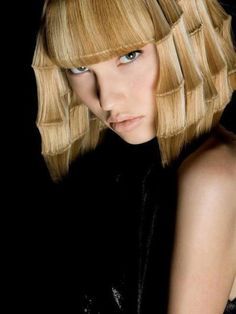 Funky avant garde hairstyle with bangs
