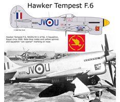 Tempest F.6 Ww2 Aircraft, Fighter Aircraft, Military Aircraft, Hawker Tempest, Hawker Typhoon, Hawker Hurricane, The Spitfires, Ww2 Planes, Nose Art