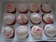 Girly  Baby Shower Cupcakes