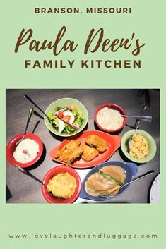 When heading to Branson, Missouri, be sure to stop at Paula Deen's Family Kitchen at the Branson Landing for food and shopping! Branson Missouri Restaurants, Great Recipes, Healthy Recipes, Holiday Recipes, Branson Landing, Banana Dessert, Dessert Bread, Branson Vacation, Family Kitchen