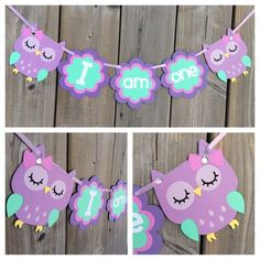 Items similar to I am one owl banner, owl high chair banner, owl cake smash banner, owl mini banner, purple owl banner on Etsy Owl Themed Parties, Owl Parties, Owl Birthday Parties, 1st Birthday Girls, Birthday Ideas, Birthday Cake, Owl 1st Birthdays, Cake Banner, Owl Banner