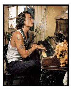 Seliger: Johnny Depp, Madame Simon Residence, 2003 I have seen this time and time again. Love this shot of this man