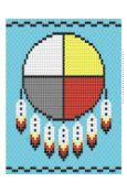 Medicine Wheel pattern for bead loom