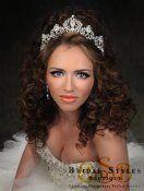 TR117-Victorian Era Royal tiara encrusted with Swarovski Crystals by bridal styles boutique in NYC