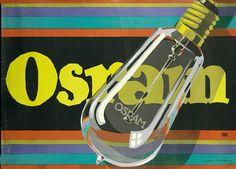 Lucian Bernhard (Emil Kahn), advertising poster for Osram light bulbs, 1919…