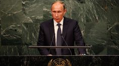 Putin to UN: Export of so-called 'democratic' revolutions continues globally http://sumo.ly/88oI  Russian President Vladimir Putin addresses attendees during the 70th session of the United Nations General Assembly at the U.N. Headquarters in New York, September 28, 2015. © Mike Segar