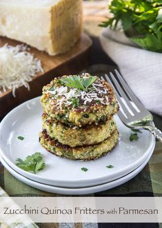 Zucchini Quinoa Fritters with Parmesan @Matt Valk Chuah Scrumptious Pumpkin #recipe #oliveoil #quinoa