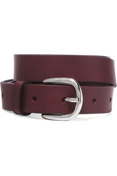Burgundy leather (Cow) Buckle fastening Made in FranceAs seen in The EDIT magazine