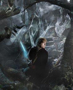 Bilbo and Sting in Mirkwood--The Hobbit: The Desolation of Smaug.