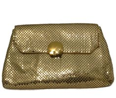 ♦❝ #Vintage Whiting and Davis Gold Metal Mesh Purse, Phone Case, Evening Pouch, http://etsy.me/2cxH2Mh