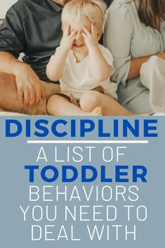 A list of Toddler Behaviors that need your attention. Don't ignore behaviors and instead start correcting them with discipline that fits your parenting style! How to make a plan that works for your family! #toddler #toddlerdiscipline #discipline #baby #tantrums #terribletwos #momlife #mom #momhacks