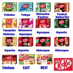Kit kat Limited edition of all over Japan. Kitkat variety flavors (Mini 12 bars) #Nestle