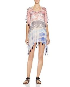 Surf Gypsy Soft Floral Tassel Swim Cover Up | Bloomingdale's
