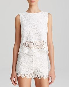 Lucy Paris Tank - Scalloped Lace | Bloomingdale's