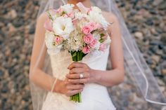 Beautiful Pink & White Bouquet (Photo by Jenn Repp Photography) Aria Style www.ariastyle.com https://www.facebook.com/AriaStyle