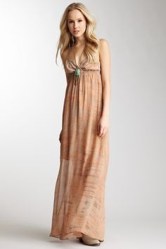 Gypsy05 Lupia Sheer Silk Maxi Dress minus the necklace