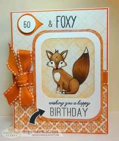 The Cricut Bug: Fox Birthday Card  THIS IS FOR MY COUSIN IN LAW  SWEET ED !!!  He Loves Foxes !!!