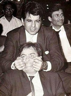 Deelip Kumar- Raj Kapoor- Dev Anand in a rare pic!