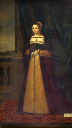 Margaret Tudor, consort of Scotland, by Daniel Mytens, c:1520-1538