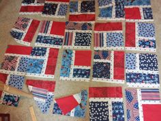The beginning of new Quilt of Valor