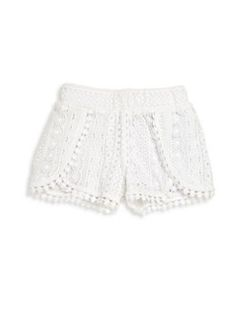Design History - Toddler's & Little Girl's Lace Shorts