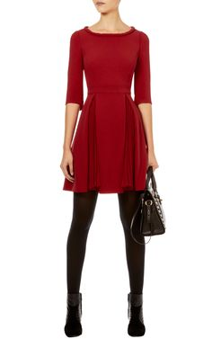 Colourful crepe dress | Luxury Women's party | Karen Millen, £175