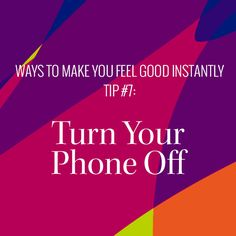 Sometimes in order to plug in we have to unplug first.  Shut the phone off and focus on YOU. https://multibra.in/9zjnx