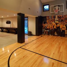 ultimate basement man cave. Fun Ideas For Kids Basement Playroom, Basketball Court At Same Floor Level  As Basement Ultimate Man Cave D