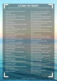 Two Litany Prayers Litany Of Trust, Litany Of Humility, Catholic Beliefs, Catholic Prayers, Church Prayers, Christianity, Positive Affirmations Quotes, Affirmation Quotes, Prayer For Church