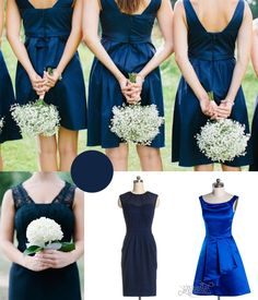 navy blue bridesmaid dresses 2014 winter wedding inspiration love the bouquets here actually, just baby's breath Blue Wedding Colour Theme, Wedding Colors, Navy Blue Bridesmaid Dresses, Wedding Bridesmaids, Bridesmaid Bouquets, Navy Dress, Wedding Bouquets, Wedding Flowers, Corsage